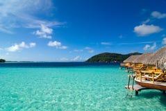 Bora Bora Lagune Stockfotos