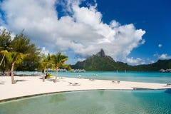 Bora Bora liggande Arkivbilder