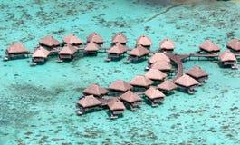 Bora-bora Luxus-Resort stockbild