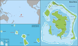 Bora bora map Stock Image