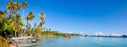 Bora Bora-Panorama Lizenzfreies Stockbild