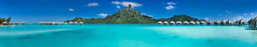 Bora Bora-Panorama Lizenzfreie Stockbilder