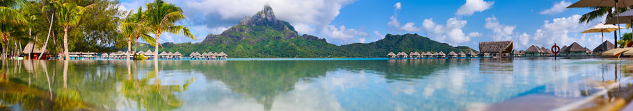 Bora Bora panorama Royalty Free Stock Photo