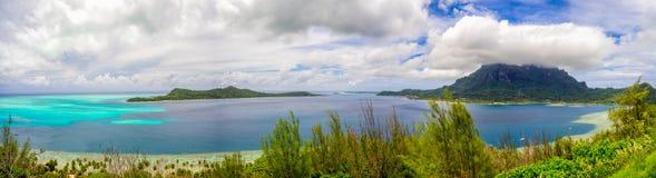 Bora Bora panoramique photographie stock