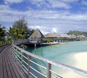 Bora bora resort royalty free stock images