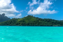 Bora Bora strand Arkivfoton
