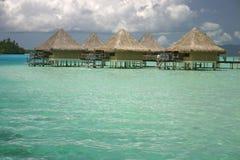 Bora Bora summer resort stock photo