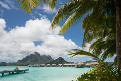 Bora Bora Tahiti overwater bungalow Stock Photos