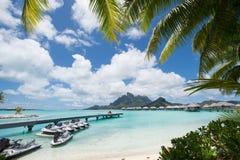 Bora Bora Tahiti overwater bungalow Royalty Free Stock Photos