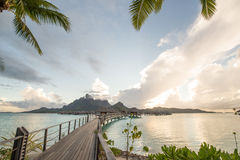 Bora Bora Tahiti overwater bungalow Stock Photo