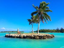 Bora Bora. Tropical island serenity Stock Images