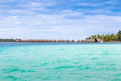 Bora Bora Island, French Polynesia. A true paradise with turquoise water. Destination sought by couples on honeymoon. Bora Bora Island, French Polynesia. A Royalty Free Stock Photos
