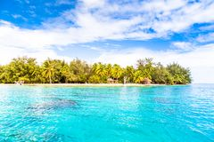 Bora Bora Island, French Polynesia. A true paradise with turquoise water. Destination sought by couples on honeymoon. Bora Bora Island, French Polynesia. A Royalty Free Stock Photography