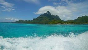 Bora Bora skuggor av blått Arkivfoton