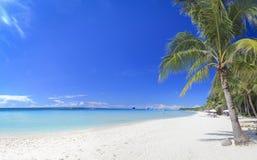 Boracay海岛空白沙子海滩菲律宾 免版税库存照片