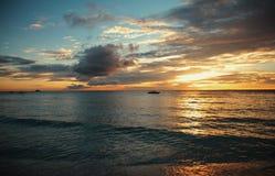 Boracay на заходе солнца Стоковые Фото