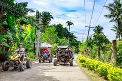 Boracay ATV che va montare Luho, un'avventura movente fotografia stock libera da diritti