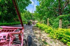Boracay ATV going to Mount Luho, a Driving adventure. Boracay, Philippines - Nov 18, 2017 : Boracay ATV going to Mount Luho, a Driving adventure stock images
