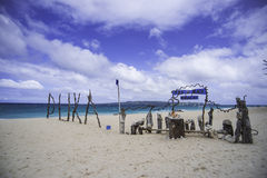 Boracay beach. ,water,blue sky stock image