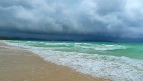 Boracay beach. Cloudy day at the boracay beach stock photos