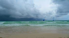 Boracay beach. Cloudy day at the boracay beach royalty free stock photography