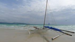 Boracay beach. Cloudy day at the boracay beach stock photography