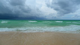 Boracay beach. Cloudy day at the boracay beach stock images