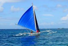 Boracay crab boat sail Stock Image