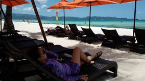 Boracay. Escapade unwind beach side Stock Photography