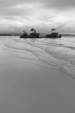 Boracay Filipiny, Willy - ` s skała na bielu plaży zdjęcia stock