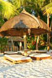 Boracay hut. One of the lounge huts on the beach stock image