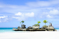Boracay island. Blue water and white sand royalty free stock images
