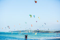Free Boracay Island, Philippines - JAN 25: Kitesurfers Enjoying Wind Power On Bulabog Beach. In Royalty Free Stock Photo - 69119995