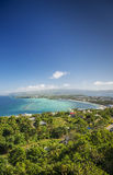 Boracay island tropical coast landscape in philippines Royalty Free Stock Photos
