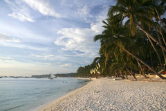 Boracay island white beach philippines Royalty Free Stock Photography