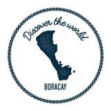 Boracay mapa w roczniku odkrywa świat Obrazy Royalty Free