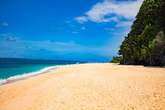 BORACAY, PHILIPPINES - Jan 30, 2018: Puka beach without tourists royalty free stock photo