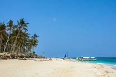 Boracay, Philippines - March 14, 2016: Puka Beach, the northern part of Boracay Island Royalty Free Stock Images
