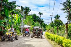 Boracay ATV going to Mount Luho, a Driving adventure royalty free stock photo