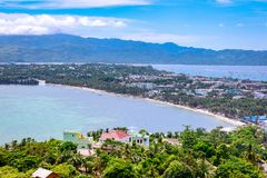 Boracay Island overview from Mount Luho view point in Aklan, Philippines. Boracay, Philippines - Nov 18, 2017 : Boracay Island overview from Mount Luho view Stock Photos
