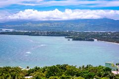 Boracay Island overview from Mount Luho view point in Aklan, Philippines. Boracay, Philippines - Nov 18, 2017 : Boracay Island overview from Mount Luho view Stock Images