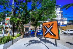 Sign of Station X mall in Boracay. Boracay, Philippines - Nov 18, 2017 : Sign of Station X mall in Boracay Royalty Free Stock Images