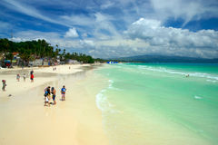 Boracay, Philippines. White Beach Stock Photo