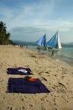 Boracay plażowy wyspy życie Philippines Fotografia Royalty Free