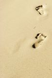 boracay plażowi odcisk stopy Zdjęcia Royalty Free