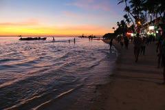 Boracay przy zmierzchem Zdjęcie Royalty Free
