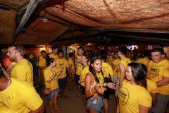 Boracay Pubcrawl, partie de nuit faisant l'ami à Boracay Photos libres de droits