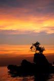 boracay solnedgång Royaltyfria Bilder