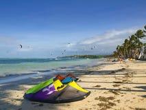 Boracay som kiteboarding Royaltyfri Bild