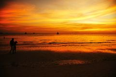 Boracay Sunset Stock Photos